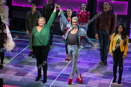Melissa Jacques (Margaret) and Layton Williams (Jamie) during the curtain call