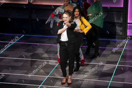 Rita Simons (Miss Hedge) during the curtain call