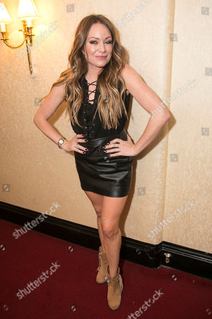 Stock Picture of Rita Simons (Miss Hedge) backstage