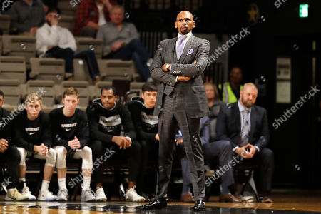 Vanderbilt Commodores head coach Jerry Stackhouse watches during the first half of an NCAA college basketball game against Southeast Missouri State, in Nashville, Tenn