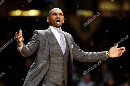 Vanderbilt head coach Jerry Stackhouse watches the action in the second half of an NCAA college basketball game between Vanderbilt and Southeast Missouri State, in Nashville, Tenn