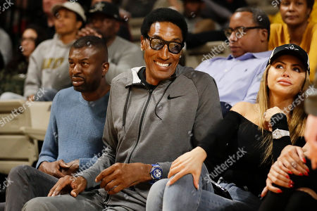 Former Chicago Bulls star Scottie Pippen watches during the second half of an NCAA college basketball game between Vanderbilt and Southeast Missouri State, in Nashville, Tenn. Pippen's son, Scotty Pippen Jr., plays for Vanderbilt