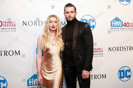 Amber Heard and Nico Tortorella attend the 2019 Emery Awards at Cipriani Wall Street, in New York