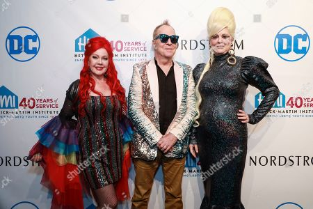 Kate Pierson, Fred Schneider and Cindy Wilson attends the 2019 Emery Awards at Cipriani Wall Street, in New York