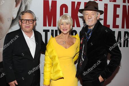 Stock Image of Bill Condon, Helen Mirren and Sir Ian McKellen