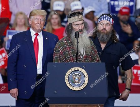 Editorial image of US President Donald J. Trump holds campaign rally in Monroe, Louisiana, USA - 06 Nov 2019