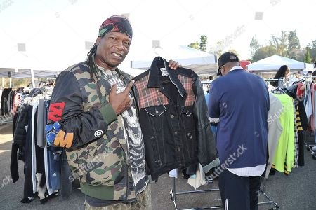 EDDIEB of North Hollywood shopping Chris Brown's yard sale at Brown's home in the Tarzana neighborhood of the San Fernando Valley, in Los Angeles