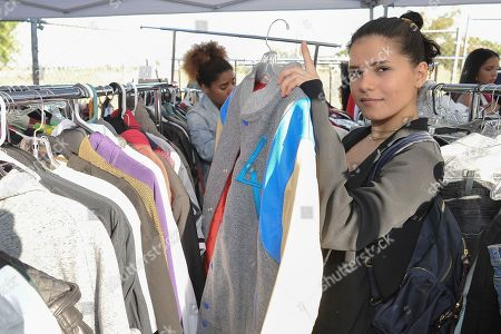 Stock Image of Mehrzad Mozhdekanloo of Los Angeles shopping Chris Brown's yard sale at Brown's home in the Tarzana neighborhood of the San Fernando Valley, in Los Angeles