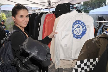 Mehrzad Mozhdekanloo of Los Angeles shopping Chris Brown's yard sale at Brown's home in the Tarzana neighborhood of the San Fernando Valley, in Los Angeles