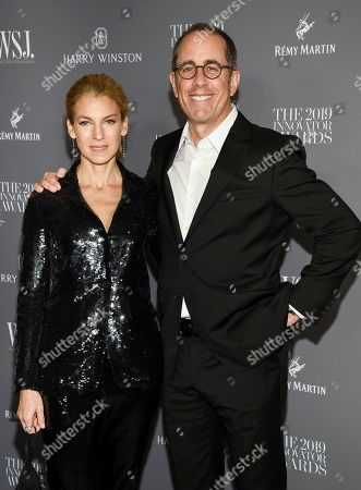 Jessica Seinfeld, Jerry Seinfeld. Comedian Jerry Seinfeld, right, and wife Jessica Seinfeld attend the WSJ. Magazine 2019 Innovator Awards at the Museum of Modern Art, in New York