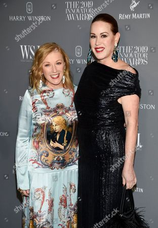 Cindy Sherman, Molly Ringwald. Honoree artist Cindy Sherman, left, and actress Molly Ringwald pose together at the WSJ. Magazine 2019 Innovator Awards at the Museum of Modern Art, in New York