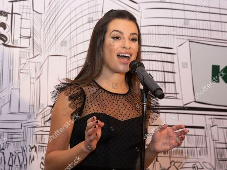 """Lea Michele attends Kohl's """"New Gifts at Every Turn"""" holiday shopping event, in New York"""