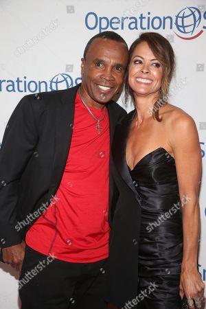 Sugar Ray Leonard and Brooke Burke Charvet