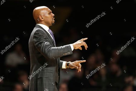 Stock Picture of Vanderbilt head coach Jerry Stackhouse watches in the second half of an NCAA college basketball game against Southeast Missouri State, in Nashville, Tenn. Vanderbilt won 83-65