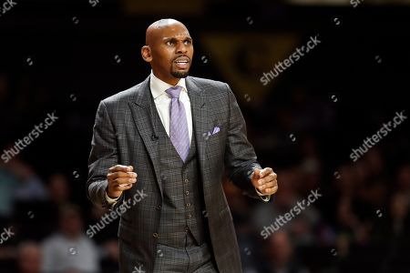 Vanderbilt head coach Jerry Stackhouse watches in the second half of an NCAA college basketball game against Southeast Missouri State, in Nashville, Tenn. Vanderbilt won 83-65