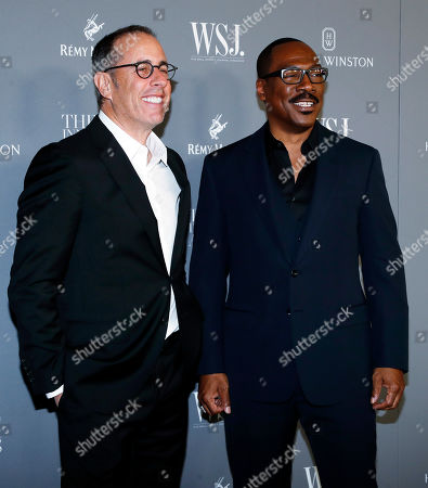Jerry Seinfeld (L) and US comedian Eddie Murphy (R) pose for a photo at the WSJ Mag 2019 Innovator Awards at The Museum of Modern Art in New York, New York, USA, 06 November 2019.
