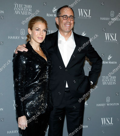 Jessica Seinfeld (L) and her husband US comedian Jerry Seinfeld (R) pose for a photo at the WSJ Mag 2019 Innovator Awards at The Museum of Modern Art in New York, New York, USA, 06 November 2019.