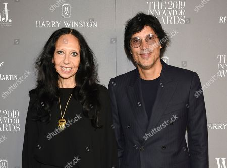Stock Photo of Inez Van Lamsweerde, Vinoodh Matadin. Fashion photographers Inez Van Lamsweerde, left, and Vinoodh Matadin attend the WSJ. Magazine 2019 Innovator Awards at the Museum of Modern Art, in New York