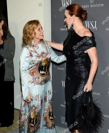 Cindy Sherman, Molly Ringwald. Honoree artist Cindy Sherman, left, and actress Molly Ringwald attend the WSJ. Magazine 2019 Innovator Awards at the Museum of Modern Art, in New York