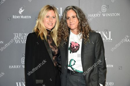 Stock Image of Ali Bird, Cass Bird. Artist Cass Bird, right, and wife Ali Bird attend the WSJ. Magazine 2019 Innovator Awards at the Museum of Modern Art, in New York