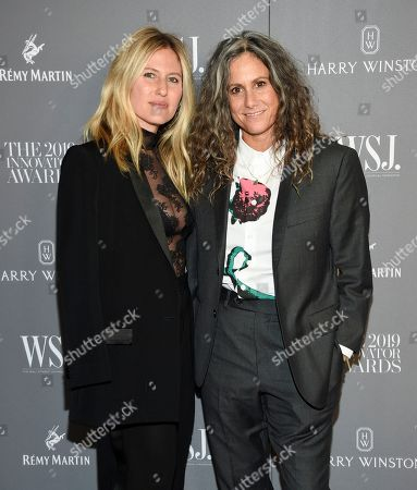 Stock Photo of Ali Bird, Cass Bird. Artist Cass Bird, right, and wife Ali Bird attend the WSJ. Magazine 2019 Innovator Awards at the Museum of Modern Art, in New York