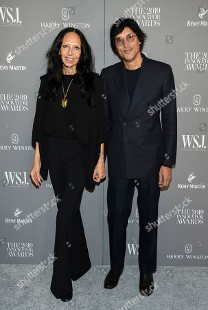 Stock Picture of Inez Van Lamsweerde, Vinoodh Matadin. Fashion photographers Inez Van Lamsweerde, left, and Vinoodh Matadin attend the WSJ. Magazine 2019 Innovator Awards at the Museum of Modern Art, in New York