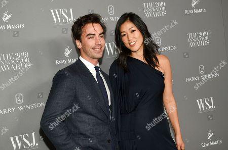 Stock Picture of Fernando Garcia, Laura Kim. Designers Fernando Garcia, left, and Laura Kim attend the WSJ. Magazine 2019 Innovator Awards at the Museum of Modern Art, in New York