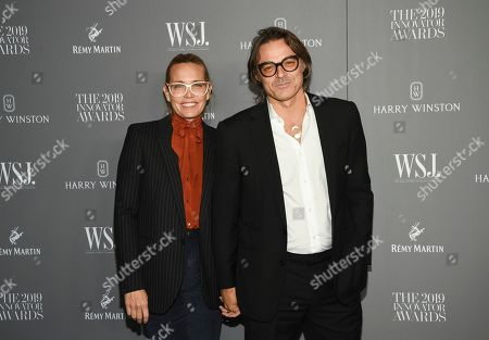 Mary Frey, Mario Sorrenti. Mary Frey, left, and Mario Sorrenti attend the WSJ. Magazine 2019 Innovator Awards at the Museum of Modern Art, in New York