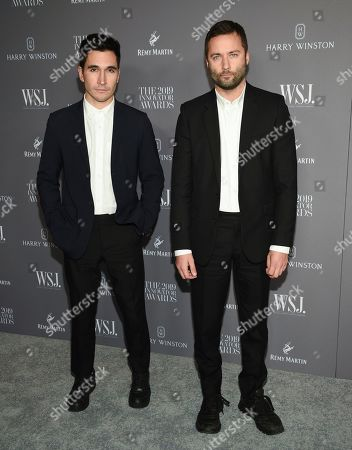 Stock Image of Lazaro Hernandez and Jack McCollough attends the WSJ. Magazine 2019 Innovator Awards at the Museum of Modern Art, in New York