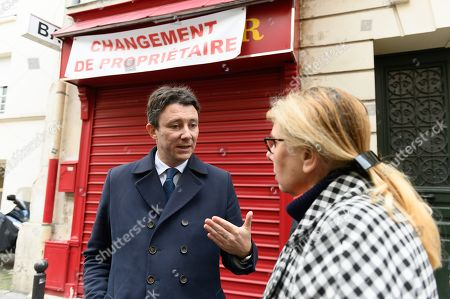 Stock Photo of Benjamin Griveaux, candidate for mayor of Paris in 2020 for La Republique en Marche