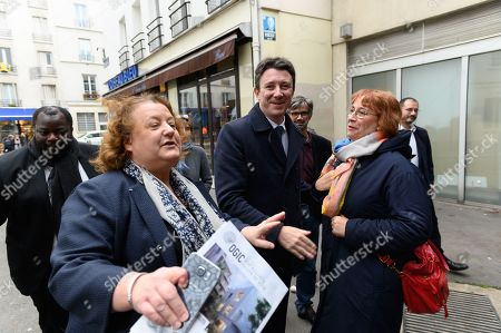 Editorial picture of Benjamin Griveaux campaigning for mayor of Paris, France - 06 Nov 2019