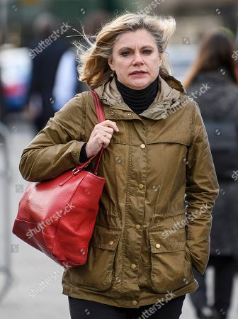 Former Conservative MP Justine Greening is seen arriving at The Houses of Parliament in Westminster