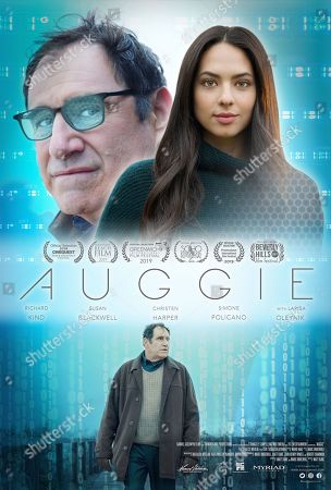 Auggie (2019) Poster Art. Richard Kind as Felix Greystone and Christen Harper as Auggie