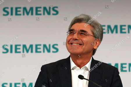 Joe Kaeser, CEO of German industrial conglomerate Siemens, attends the company's annual press conference in Munich, Germany