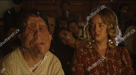 Stock Picture of Adam Pearson as Rosenthal and Jess Weixler as Mabel