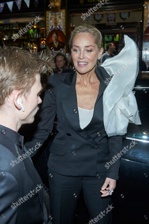Stock Image of Sharon Stone and her son Roan Joseph Bronstein