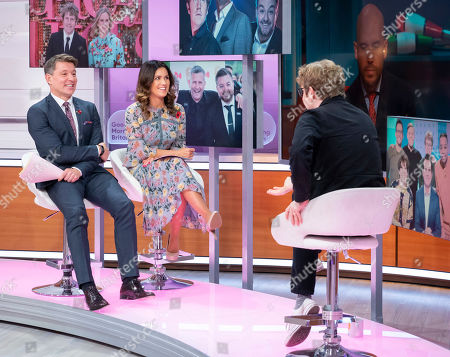 Stock Photo of Ben Shephard and Susanna Reid with Josh Widdicombe