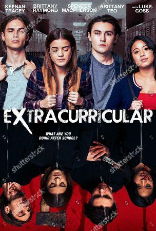 Extracurricular (2018) Poster Art. Keenan Tracey as Derek Gordon, Brittany Raymond as Miriam Randall, Spencer Macpherson as Ian Gordon and Brittany Teo as Jenny Kyoko