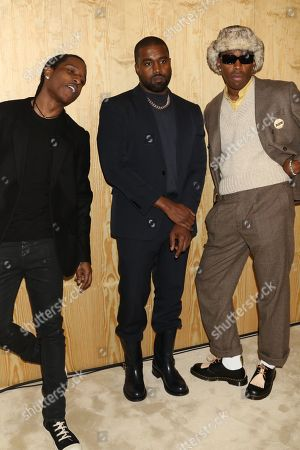 ASAP Rocky, Kanye West and Tyler the Creator