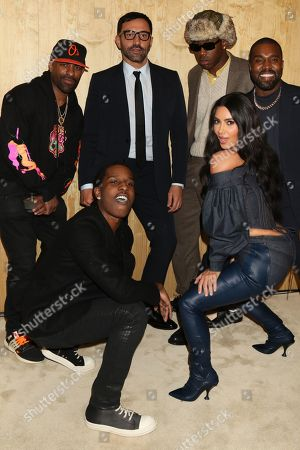 DJ Clue, ASAP Rocky, Riccardo Tisci, Tyler the Creator, Kim Kardashian West and Kanye West