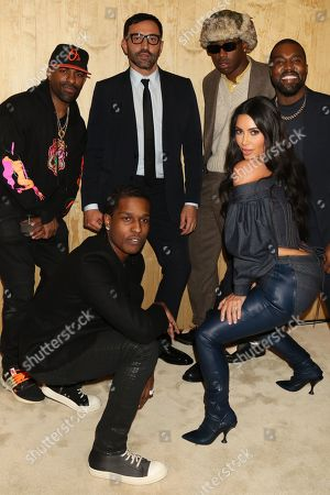 DJ Clue and ASAP Rocky and Riccardo Tisci and Tyler the Creator, Kim Kardashian West and Kanye West