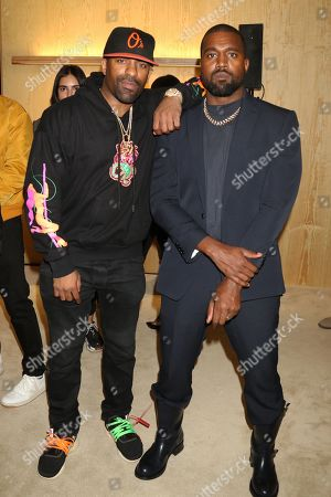 DJ Clue and Kanye West