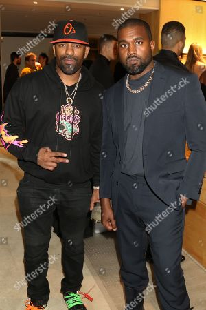 Stock Image of DJ Clue and Kanye West