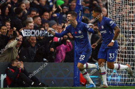 Christian Pulisic of Chelsea celebrates scoring a goal to make the score 2-0