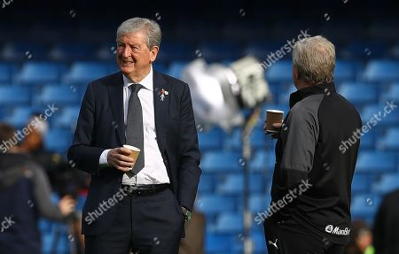 Crystal Palace manager Roy Hodgson on the pitch before kick off