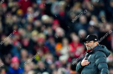 Liverpool manager Jurgen Klopp celebrates at full time