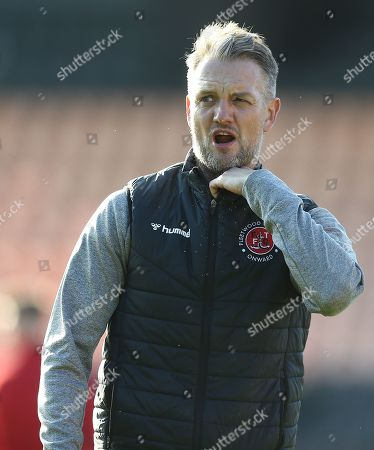 Stock Picture of Fleetwood Town  assistant manager  Clint Hill