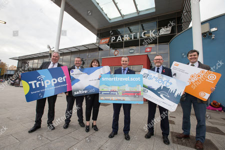 Lesley Kane, Commercial Director Abellio ScotRail, Andrew Jarvis, Managing Director First Glasgow, Robert Andrew, Regional Director Stagecoach Scotland, Alan Campbell, Finance & Commercial Director McGill's Buses, Cllr Martin Bartos, SPT Chair and chair of the Strathclyde Concession Scheme
