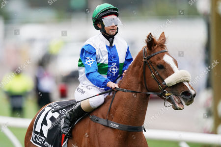 Michelle Payne pulls up last on Victory Approach after race 8, the Kennedy Oaks, during Oaks Day at Flemington Racecourse in Melbourne, Victoria, Australia, 07 November 2019.