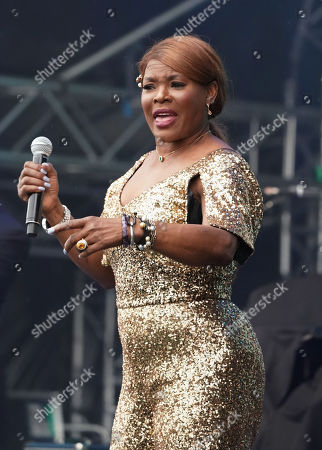 Stock Photo of Marcia Hines performs during Kennedy Oaks Day at Flemington Racecourse in Melbourne, Victoria, Australia, 07 November 2019. The Kennedy Oaks Day, also known as the Ladies' Day, is part of the Melbourne Cup Carnival calendar.